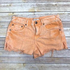 🛍 Free People Orange Cut Off Shorts